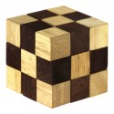 Łamigłówka drewniana kostka 45 mm (brązowa)