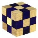 Łamigłówka drewniana kostka 45 mm (nieb lub fiol)