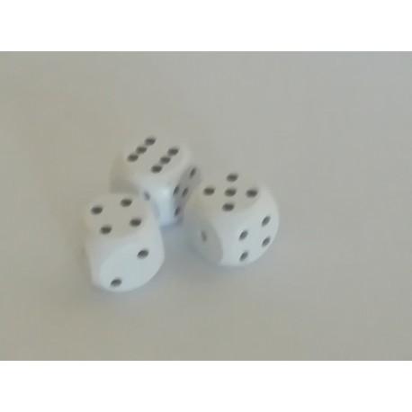 Kostki do gry 3szt białe