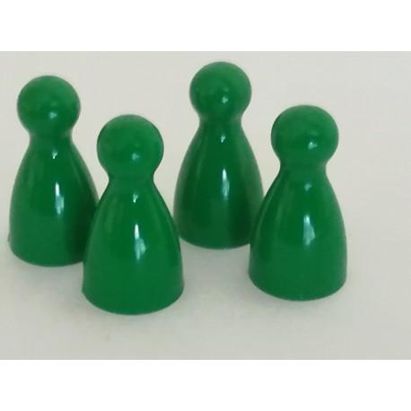 Pionki 4szt zielone