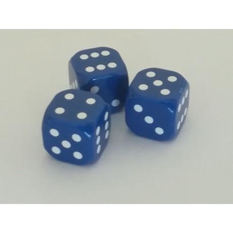 Kostki do gry 3szt exclusive -niebieskie